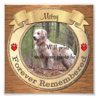 Impression Photo Mémorial personnalisé pour toujours rappelé