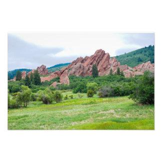 Impression Photo Montagnes et flèches de prés de Roxborough