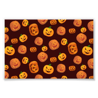 Impression Photo Motif de citrouille de Halloween Jack-o'-lantern