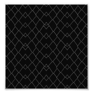 Impression Photo Motif de grille noir et blanc