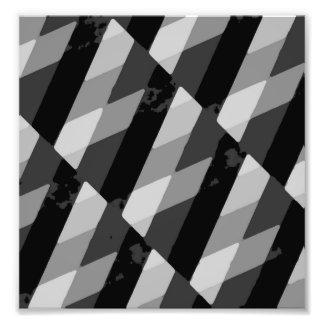 Impression Photo Motif rayé grunge noir et blanc