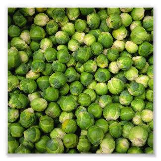 Impression Photo Motif végétal vert de chou de bruxelles