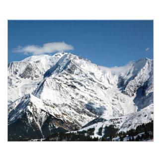 Impression Photo Mt. Blanc avec des nuages