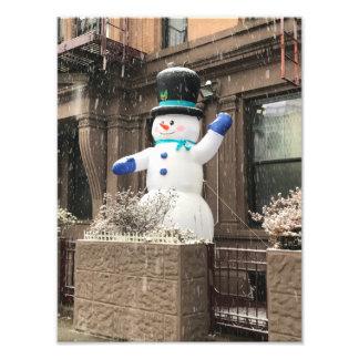 Impression Photo Neige supérieure de New York City NYC de bonhomme