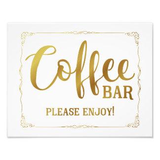 Impression Photo noir de signe de mariage de café