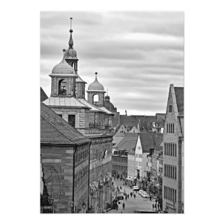 Impression Photo Nuremberg. Le Rathausplatz et vieux hôtel de ville