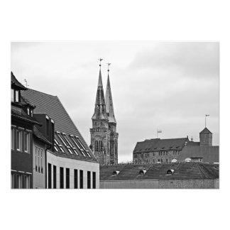 Impression Photo Nuremberg. Les tours de l'église de St Sebald