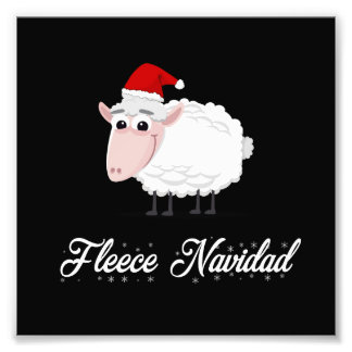 Impression Photo Ouatine Navidad de moutons de bande dessinée