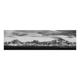 Impression Photo Panorama de chaîne d'Alaska