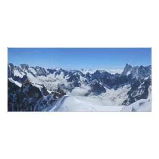 Impression Photo Panorama de Chamonix d'Alpes de Franch