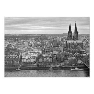 Impression Photo Panorama de Cologne avec une vue de cathédrale