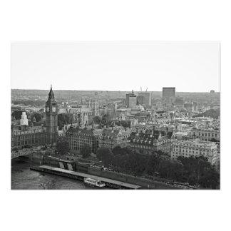 Impression Photo Panorama de ville de l'oeil de Londres