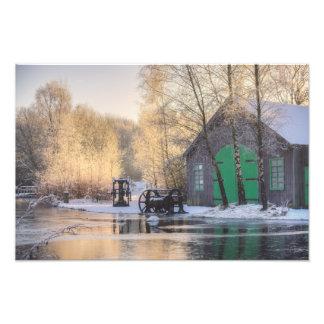 Impression Photo Parc d'héritage de Summerlee dans la neige
