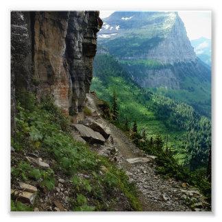 Impression Photo Parc national Montana de glacier de traînée de