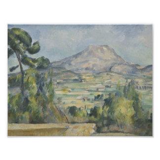 Impression Photo Paul Cezanne - Saint-Victoire de Montagne