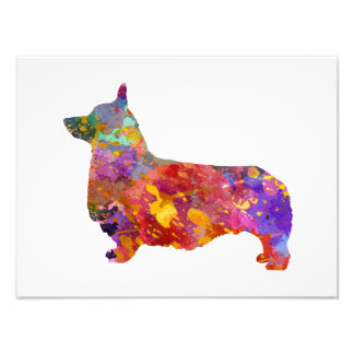 Impression Photo Pembroke Welsh Corgi 01 in watercolor 2