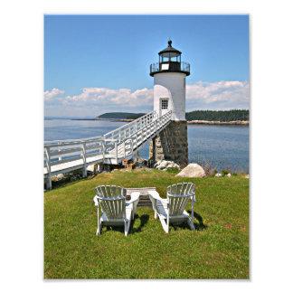 Impression Photo Phare de point de Robinson, Au Haut, Maine d'île