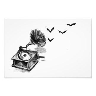 Impression Photo Phonographe et copie d'art de battes (petite)