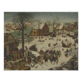 Impression Photo Pieter Bruegel l'aîné - numérotation à Bethlehem