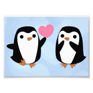 Impression Photo Pingouins dans l'amour