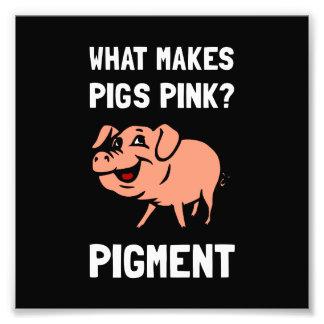 Impression Photo Plaisanterie rose de bande dessinée de colorant de