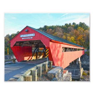 Impression Photo Pont couvert de Taftsville, Vermont 8x10
