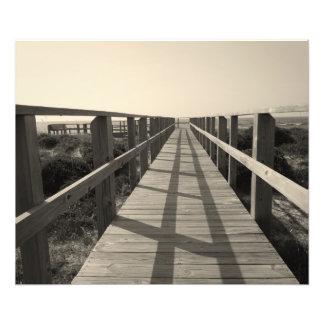 Impression Photo Promenade de plage dans la sépia