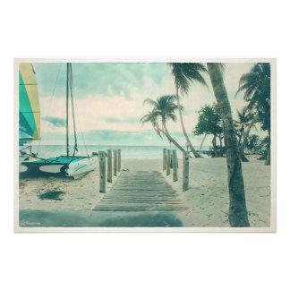 Impression Photo Promenade en bois sur la plage de Smathers, Key