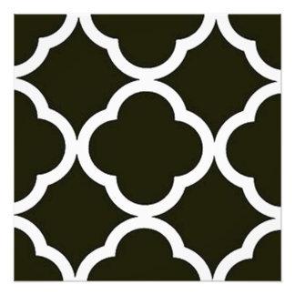 Impression Photo Quatrefoil noir et blanc