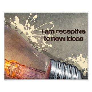 Impression Photo Réceptif à de nouvelles idées par des