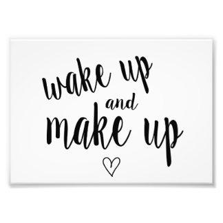 Impression Photo Réveillez-vous et composez