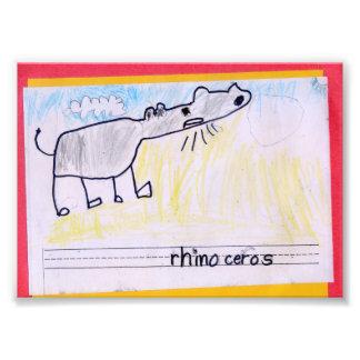 Impression Photo Rhinocéros