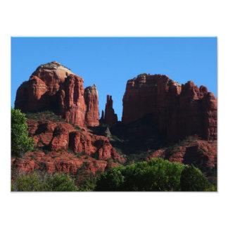Impression Photo Roche de cathédrale dans Sedona Arizona