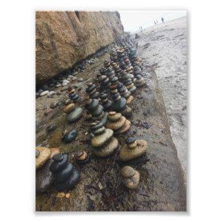 Impression Photo Roches de plage