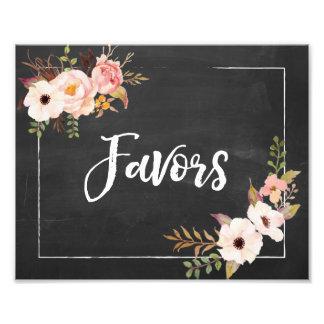 Impression Photo Signe floral de mariage de tableau rustique de
