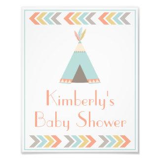 Impression Photo Signe tribal de partie de baby shower • copie 8 x