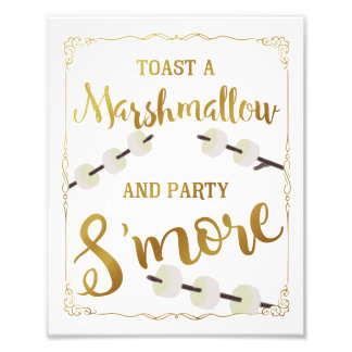 Impression Photo s'more de partie de signe de s'more de mariage