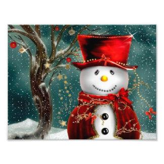Impression Photo Snowmans mignons - illustration de bonhomme de