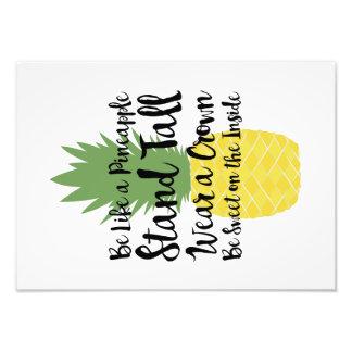Impression Photo Soyez comme une copie d'ananas