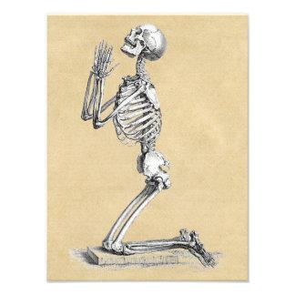 Impression Photo Squelette dans la prière