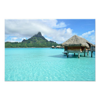 Impression Photo Station de vacances d'Overwater sur la copie de