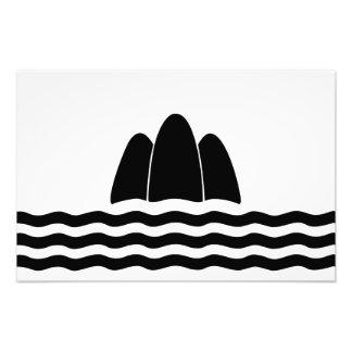 Impression Photo Symbole de province d'île de région de drapeau de