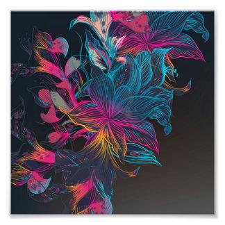 Impression Photo texture de luxe élégante de motif de fleur