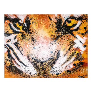 Impression Photo Tigre de graffiti