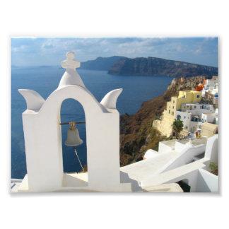 Impression Photo Tour de Santorini Bell pendant l'après-midi Sun