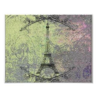 Impression Photo Tour Eiffel vintage