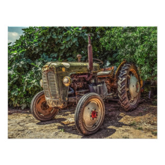 Impression Photo Tracteur rustique de ferme