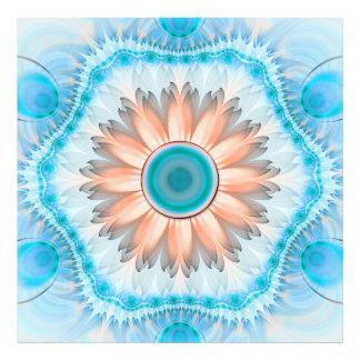 Impression Photo Turquoise propre et pure et fleur blanche de