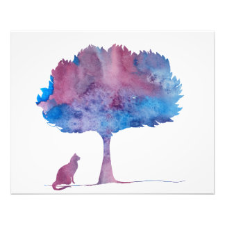 Impression Photo Un chat sous un arbre