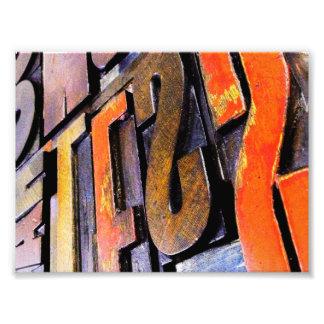 Impression Photo un choix coloré de type vintage d'impression